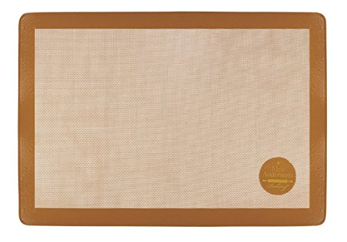 Mrs. Anderson's Baking Non-Stick Silicone Full-Size Pastry Rolling and Baking Mat, 16.5-Inch x 24.5-Inch