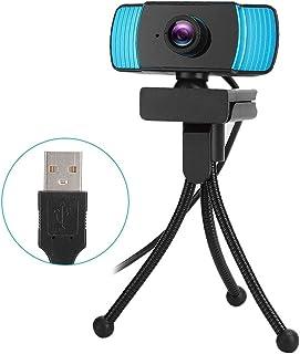 Webcam, Camera, USB3.0 USB2.0 for Internet Celebrity Live for Desktop Video Chat Notebook(Black+Blue)
