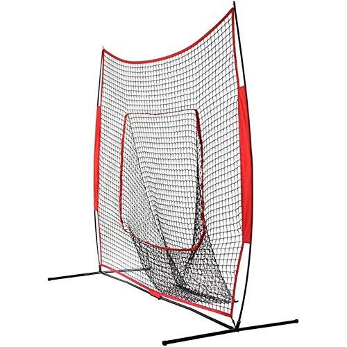 Zhengowen Red de Práctica de Béisbol 7FT Portátil Portátil Béisbol Moldeteo Net Softball Post Baseball Práctica Net Red de Práctica de Béisbol para Adultos (Color, Size : 213x213cm)