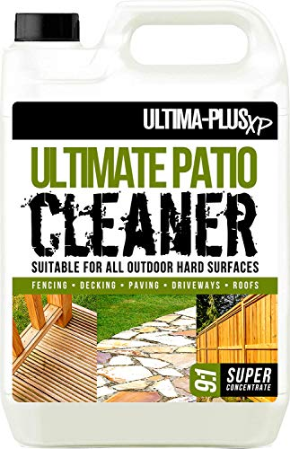 ULTIMA-PLUS XP XP Cleaner 5 litres Super Concentrate for Patios, Fencing, Decking and More, Blue