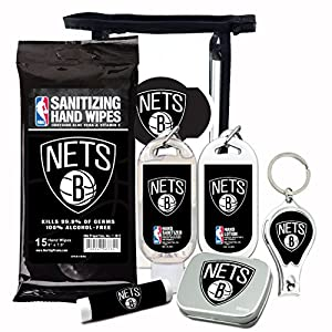 10% OFF—NBA 6-Piece Fan Kit with Decorative Mint Tin, Nail Clippers, Hand Sanitizer, SPF 15 Lip Balm, Hand Lotion, Sanitizer Wipes. NBA Gifts for Men and Women By Worthy