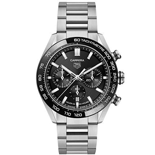 TAG Heuer orologio Carrera cronografo 44mm Calibre Heuer 02 ceramica nera automatico acciaio CBN2A1B.BA0643 - Default Title