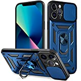 EKKOS Shockproof Compatible with iPhone 13 Pro Max Case [Camera Lens Protection], Full Body Protective iPhone 13 Pro Max Phone Case Cover Built-in 360 Degrees Rotating Ring Kickstand, 6.7 inch 2021