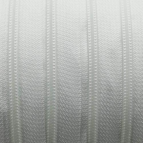 Endlos-Reißverschluss 5 mm weiss - 5 m Meterware mit 15 Zippern - Farbe 001