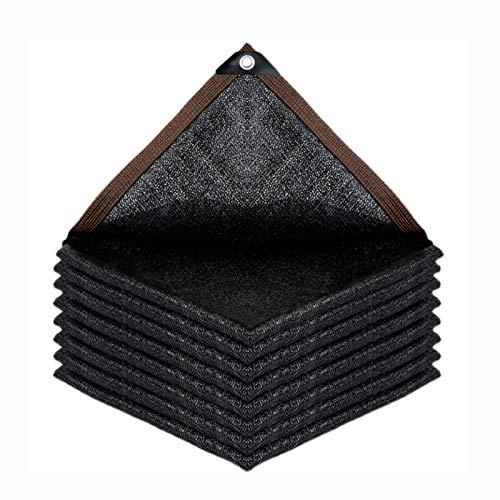 AWSAD Negro, Engrosamiento De Cifrado, Adecuado para Patio Exterior De Cochera, Resistencia Al Desgarro Y A La Abrasión, Varios Tamaños (Color : Negro, Size : 5x7m)