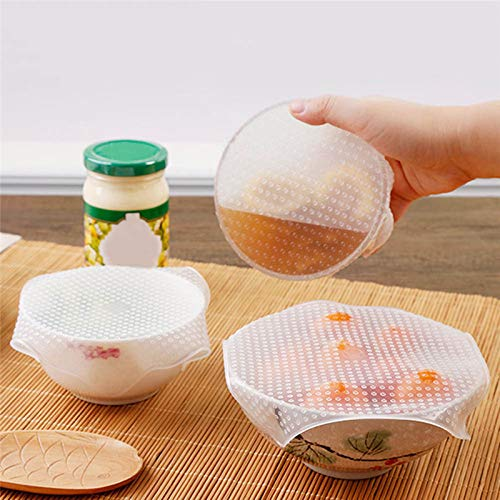 Doorzichtig Siliconen Cover Koelkast Plastic Wrap, Zero Waste Herbruikbare Kitchen Eten Sealing Film Cover