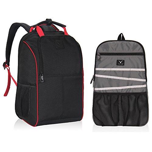 Travel Max Laptop Backpack & Insert Organizer Bag,2 in 1 Multi Functional Computer Bag,Fits Under 14 Inch Laptop Notebook,Business Work College School Bookbag Daypack for Women & Men (Black)