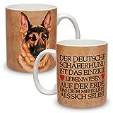 Kaffeebecher mit Motiv Hund Große XXL Tasse Deutscher Schäferhund