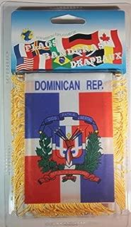 Souvenir Destiny Dominican Republic Flag Rear View Mirror Mini Banner 4