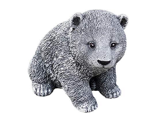 Statue petit ours, au gel et aux intempéries-massif en pierre