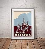 AZSTEEL Vintage Poster Malaysia Langkawi | Poster No Frame