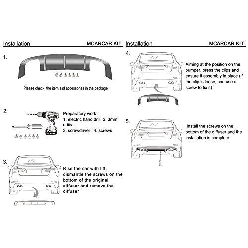 MCARCAR KIT Carbon Fiber Rear Bumper Diffuser Fits for BMW 3 Series E92 E93 M3 2Door 2008-2013 Factory Outlet CF Lower Bumper Lip Spoiler Body Kit