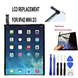 xinqiutouchthefuture Screen Replacement for IPad Mini 2 3 MINI3 Mini 2 Retina A1599 A1600 A1601 Mini 2 Mini2 A1490 A1491 LCD Display 7.9' Tablet Repair Part Include Free Tools