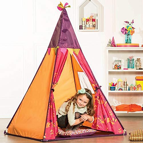 YYFZ Kinder Indoor Privatsphäre und Spielzelt Indoor-und Outdoor-Spiele für Kinder Größe 100 * 100 * 140mm Farbe (blau)-orange