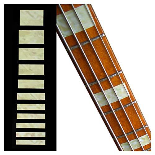Marcadores de trastes para guitarras y bajos, bloques de jazz, perla blanca envejecida, FB-101J-AW