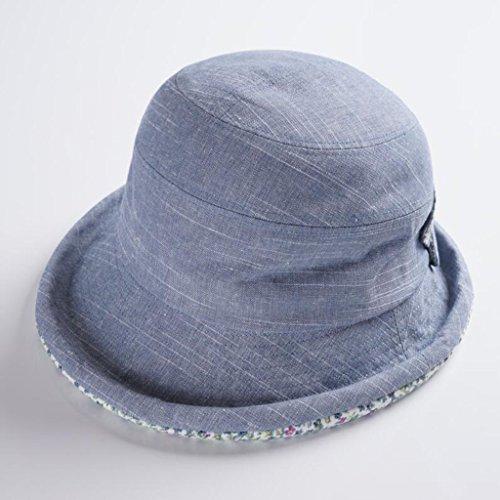 ZX-cappello Donna Visiera Estate Viaggiante Protezione UV Cappello Pescatore Cappello da Sole di Piegatura Cappuccio di Protezione Solare (Colore : Azzurro)