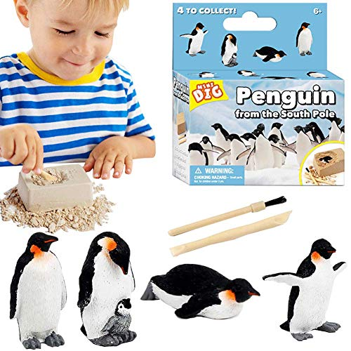 Huacuaia Penguin Treasure Dig Kit for Kids - Children's Popular Science Education Toys-Archaeology...