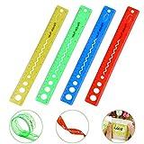 CODIRATO Reglas Flexibles con Pulgadas y Métrica Regla de Plástico de 30 cm / 12 ' Regla Recta Clara para Uso Doméstico y de Oficina (4 Colores)
