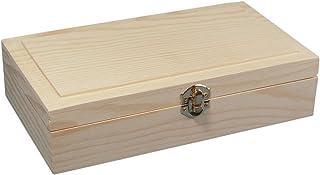 """Rayher 62296000 coffret en bois FSC Mix Credit 25 x 14 x 6 cm €"""" coffre de rangement à décorer pour le rangement ordonné ..."""