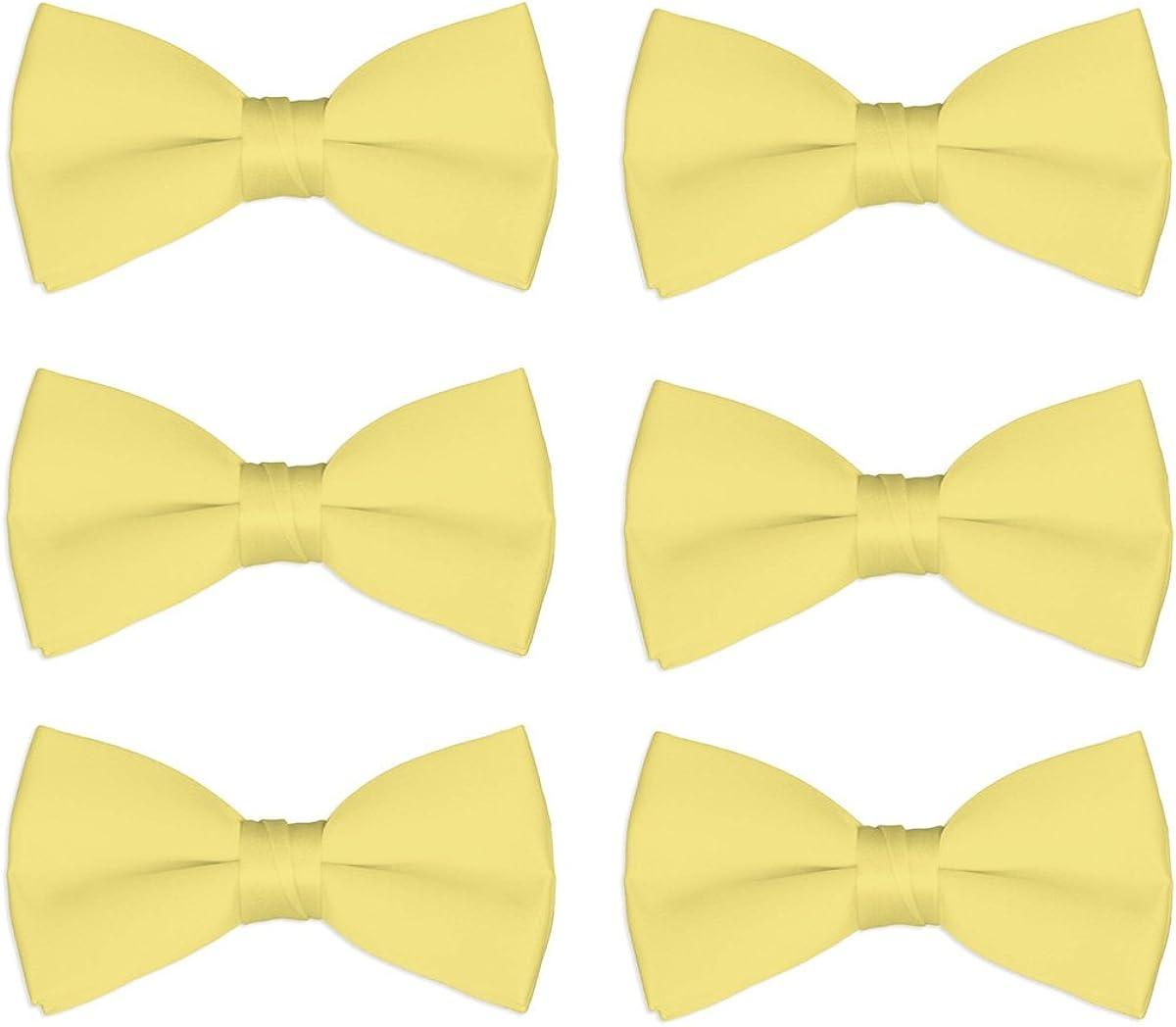 Boys Wedding Bow Tie 6 Pack Memphis Mall Chorus Children Nippon regular agency Bowties Pre-Tied Kid