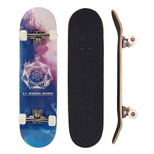 Sumeber - Tabla de skateboard para adultos, para principiantes, cumpleaños, monopatín, para adolescentes, niñas, niños y adultos