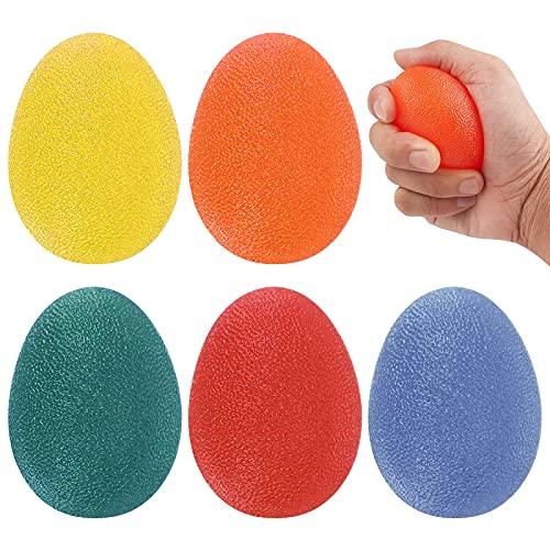 5 Bolas antiestrés Bola de Fuerza para Ejercicios de Mano 5 Resistencia Niveles Bola de Entrenamiento de Fuerza de Agarre Manual para Terapia de Artritis de Mano de Dedo de rehabilitación de muñeca