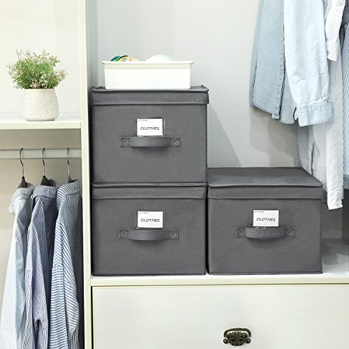 Set of 3 Foldable Storage Boxes with Lids