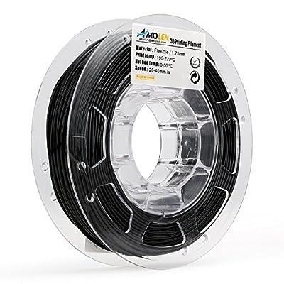 AMOLEN 3D Printer Filament, 1.75mm Flexible TPU Filament +/- 0.03 mm, 0.5lbs, Includes Sample Filament