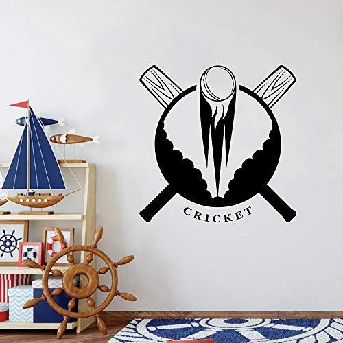 Geiqianjiumai Cricket Bat Ball Art Muurstickers Teen Boy Decoreren Slaapkamerspeler Game Room Wallpaper