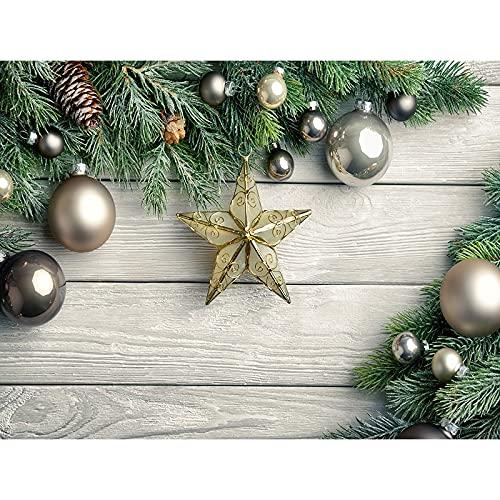 Accesorios de Fondo de fotografía de Vinilo Fiesta de Navidad Tema Cortina Estudio fotográfico Accesorios de Fondo de fotografía A22 9x6ft / 2,7x1,8 m