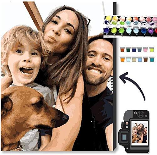 EKMON Custom Malen Nach Zahlen Bilder Personalisiert Custom Eigenes Foto Benutzerdefinierte Design Painting Set ölgemälde Bilder Home Decor-Around_36_Colors_30*40cm_with_Frame