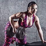 Juego de mancuernas de 20 kg, juego de pesas ajustables, juego de entrenamiento de elevación ajustable para hombres y mujeres, 20 kg