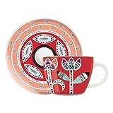 RITZENHOFF My Little Darling Espressotasse und Untertasse Design von Michal Shalev, Porzellan, Mehrfarbig, 9x 9x 10cm