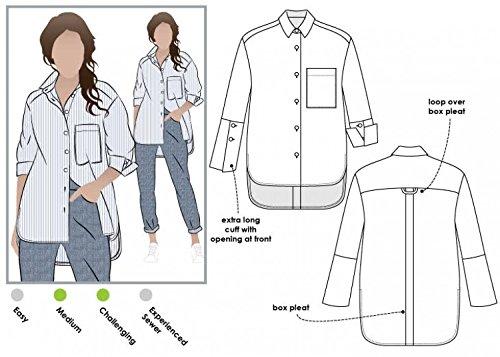 Style Arc Schnittmuster für Damen, Lauren, Hemdbluse im Boyfriend-Style