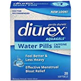 Diurex Aquagels - Caffeine Free Diuretic - Immediate Release - Relieve Water Bloat - 20 Count