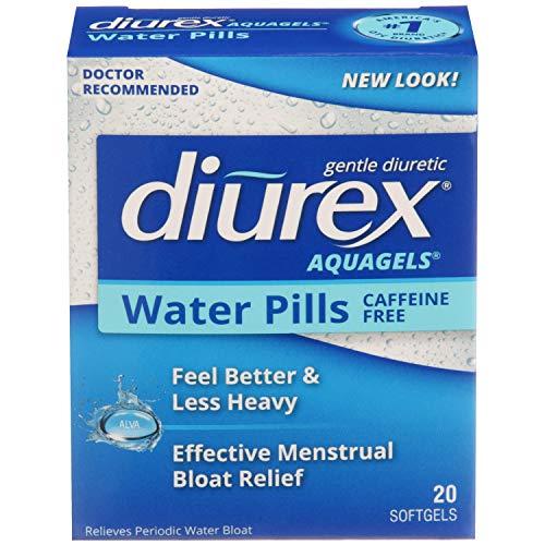 Diurex Aquagels - Caffeine Free Diuretic - Immediate Release - Relieve Water Bloat - 20 Count