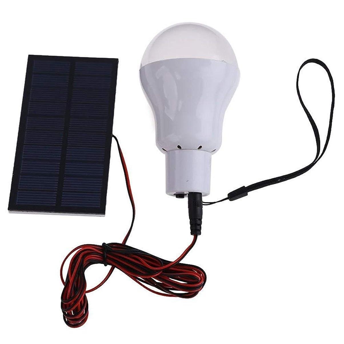 立ち向かうボウリング以下ソーラーライト アウトドアキャンプライトテントソーラーランプ魚光用のソーラーライト15Wソーラーエネルギーランプ5V LED電球 Z.L.F.J.P (Color : 白, Size : One Size)