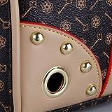 Transporttasche Hundetasche Katzentasche Tragetasche für Hunde bis 5kg Tragebox Hundebox 35*27*20cm (braun) - 5