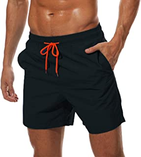 TACVASEN Quick Dry Men's Swim Trunks Mesh Lining Beach Shorts with Pockets
