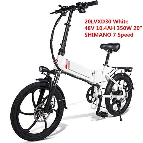LCLLXB Bicicleta Eléctrica Plegable Inteligente Pantalla LCD 26