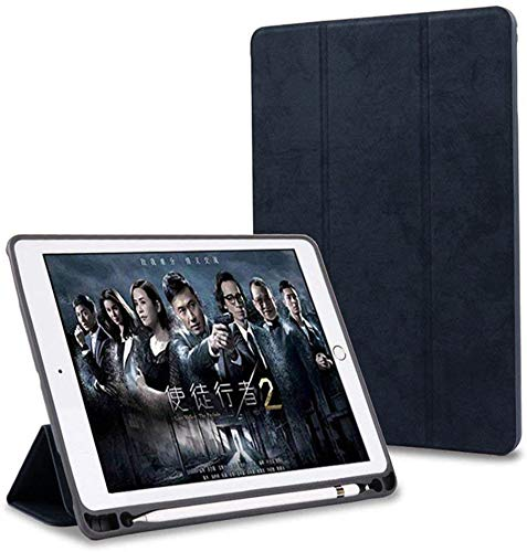 ProElite Smart PU Flip Case Cover for Apple iPad 10.2″ 9th Gen (2021) / 8th Gen / 7th Gen with Pencil Holder, Black