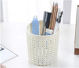 COODIO HOMEFashion Multifunction Round Cane Weaving Texture Storage Basket White