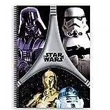 Star Wars - Bloc A5, Color Negro y Gris (Montichelvo 40727)