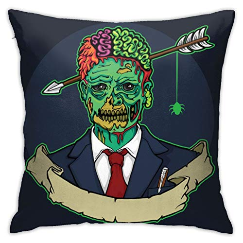 N/Q Funda de cojín Zombie Manager con cabeza de flecha Funda de almohada decorativa para el hogar para hombres/mujeres sala de estar dormitorio sofá silla 45 x 45 cm