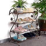 HAOJON Estante de Zapatos en Forma de S Que Ahorra Espacio, Durabilidad Estante de Zapatos Industrial de Metal Impermeable Transpirable Soporte de Zapatos para el baño del Dormitorio