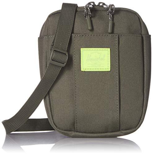 Herschel Cruz Cross Body Bag, Dark Olive/Lime Green, One Size
