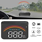 iKiKin Coche HUD con GPS OBD, Interfaces duales, Encabezar Pantalla Universal Digital Velocímetro KMH/mph Proyector de Parabrisas de automóviles para Todos los vehículos M11