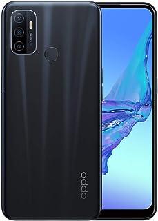 "OPPO A53 Smartphone (Unlocked Version), 13MP AI Tripple Camera, 6.4"" 90Hz Neo-Display, 4GB RAM + 64GB ROM, Electric Black"