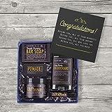 Men's Graduation Body Care Gift Box with Card & Soap, Hand Cream, Balm & More