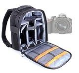 DURAGADGET Mochila Ajustable con Compartimentos para Cámara Nikon D3200 / D3100 / D3000 / D300s / D300 / D3x / D3s + Funda Impermeable Fotografiar Bajo La Lluvia!